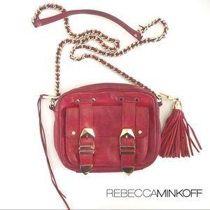 Rebecca Minkoff Red Leather Crossbody Bag